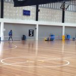 Wood Floor Drying - basketball court project.