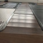 Wood Floor Drying residential project - drying pads.