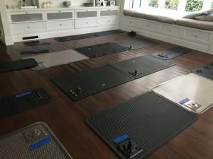 Drying mats.