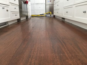 Completed floor in kitchen.